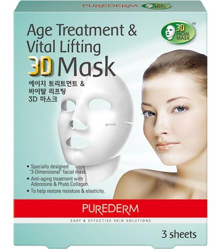 Máscara 3d Age Treatment & Vital Lifting Purederm X 3
