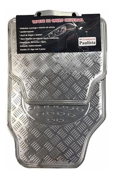 Jogo De Tapete Automotivo Alumínio Cromado Carro Universal