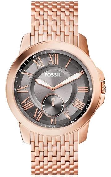Relógio Masculino Fossil Analógico Fs5083/4cn Rose