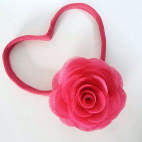 Faixa De Cabelo Bebês Meninas Festa Aniversário - Flor Pink