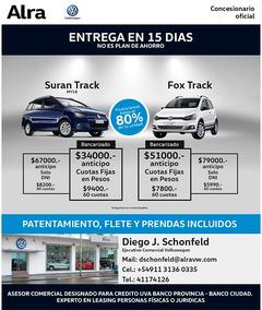Volkswagen Fox Track 0km Cross Msi Entrega Inmediata Vw