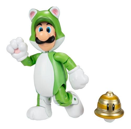 Imagen 1 de 2 de Figura Luigi Felino Con Super Campana  - Super Mario - Jakks
