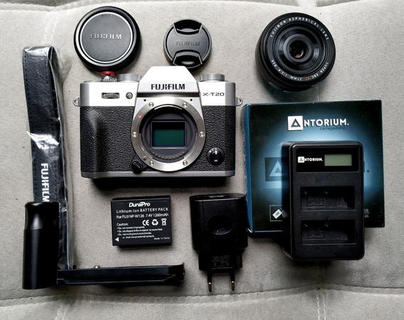 Câmera Fujifilm X-t20 Fuji + Lente Xf 27mm 2.8 X-t2 X-t30