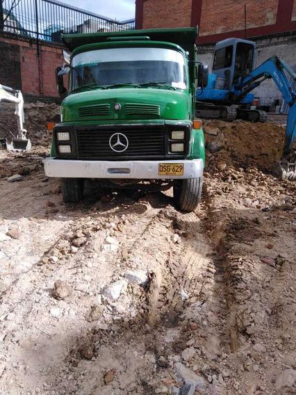 Volqueta Particular Mercedes Benz,sencilla, Color Verde