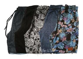 Kit 5 Bermuda Shorts Moletom Masculino Juvenil Atacado