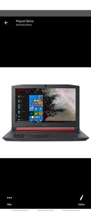 Acer Nitro Procesador Amd Ryzen8 Gb De RamWindows 10 M.2