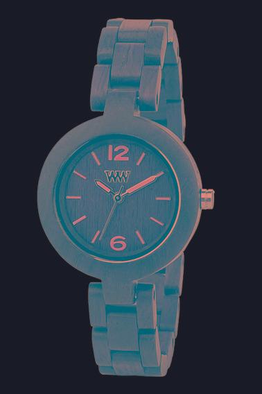Relógio De Madeira Wewood - Wwi03 - Iris Chocolate