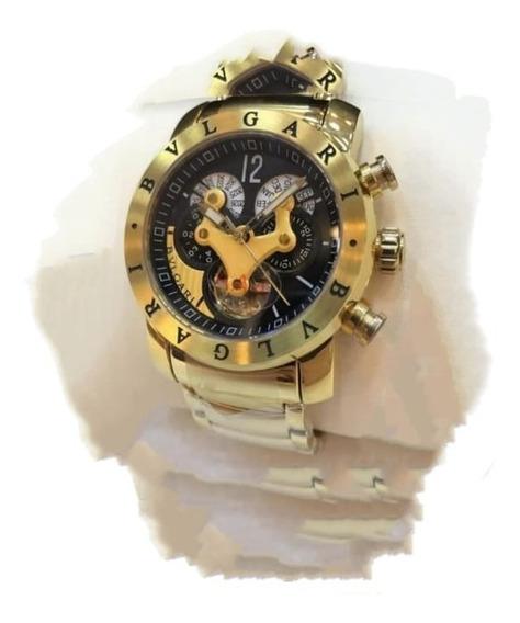 Relógio Bv Vnon Ouro Amarelo Original