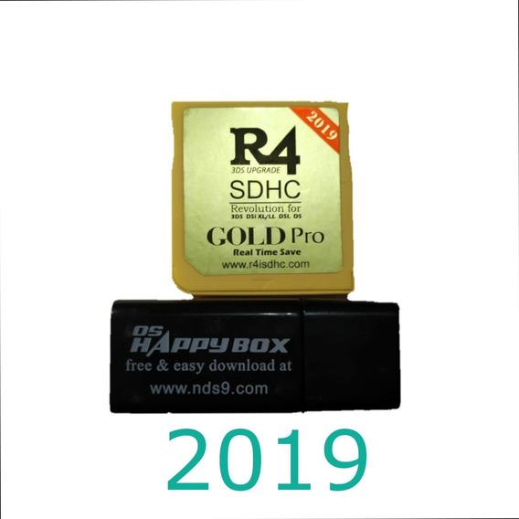 Cartão R4 Gold Pro 2019-s/microsd P/ 3ds/2ds/ Dsi/ds+brinde
