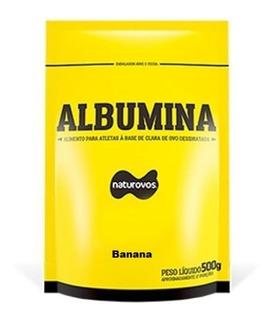 Albumina Refil - 500g Banana - Naturovos
