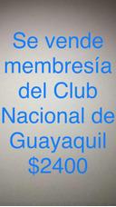 Membresía Socio Club Nacional De Guayaquil