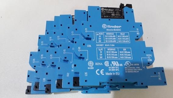 Relé Interface Finder 24v Kit 5 Pçs.