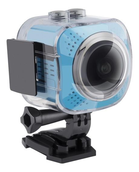 Cámara Deportiva Vídeos 360° 4k Wi-fi Resistente Al Agua