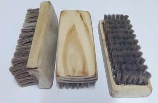 Cepillo Barba Ropa Calzado Cerda 100% Nat Durable Logo Laser