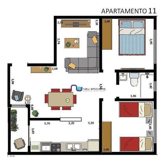 Apartamento Com 2 Dormitórios Para Alugar, 60 M² Por R$ 2.360/mês - Tatuapé - São Paulo/sp - Ap4056