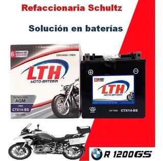 Batería Para Moto Bmw R1200gs Lth Ctx14-bs Ytx14-bs