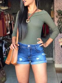 Short Jeans + Bolsa Couro + Casaco Blogueira