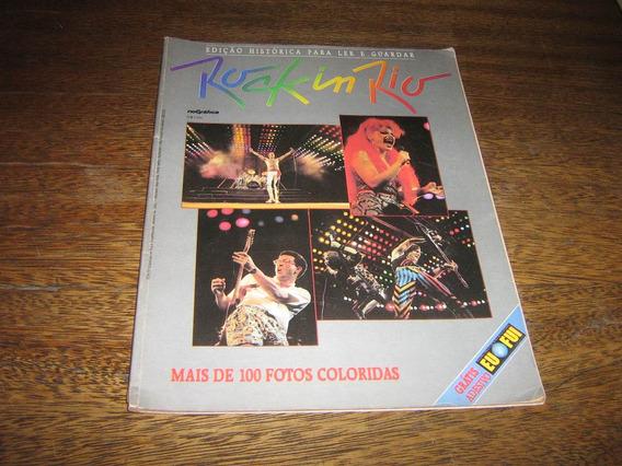 Revista Rock In Rio Edição Históricac/ 100 Fotos Rge 1985