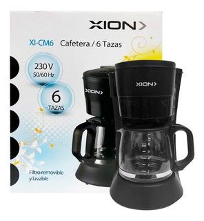 Cafetera 6 Tazas Filtro Permanente Cafe Molido Xion Cm6 Dimm