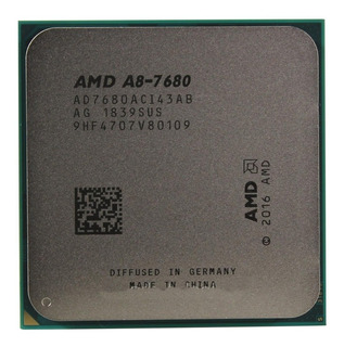 Procesador gamer AMD A8-Series A8-7680 AD7680ACABBOX de 4 núcleos y 3.8GHz de frecuencia con gráfica integrada