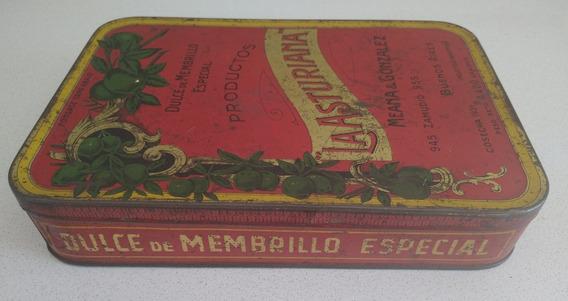 Antigua Lata Dulce De Membrillo La Asturiana 1931