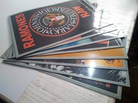 Kit Com 8 Posteres De Bandas De Rock Tamanho A2 60x42cm