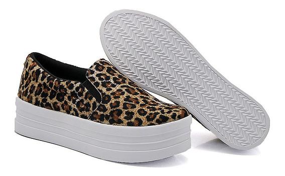 Slip On Feminino Liso Flat Form Dk Shoes Ganhe Brinde