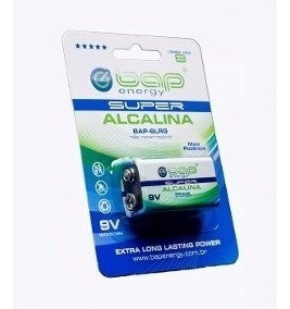 Bateria 9v Alcalina : Marca Bap