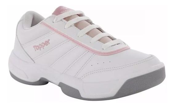 Zapatillas Topper Lady Tie Break Mujer - Blanco Rosa