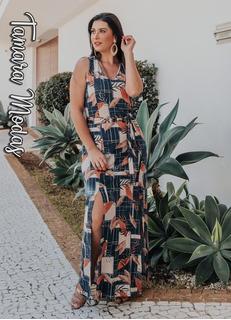 Vestido Longo Fenda Tamanho Gg No Mercado Livre Brasil