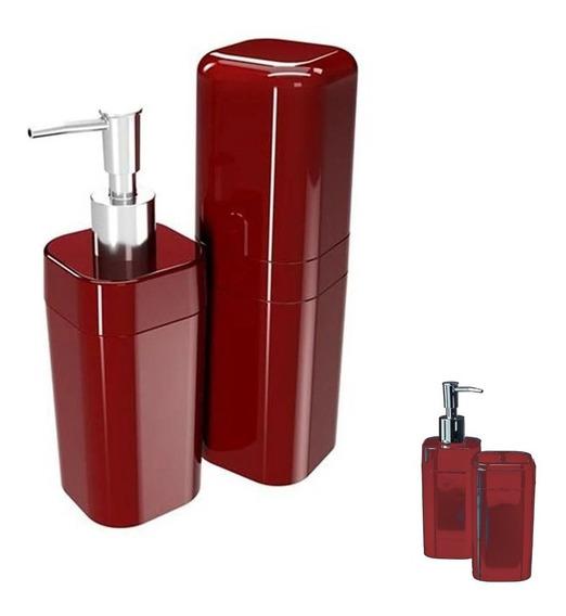 Kit Para Banheiro Splash Com Tampa 2 Peças Coza 99182 Brinox