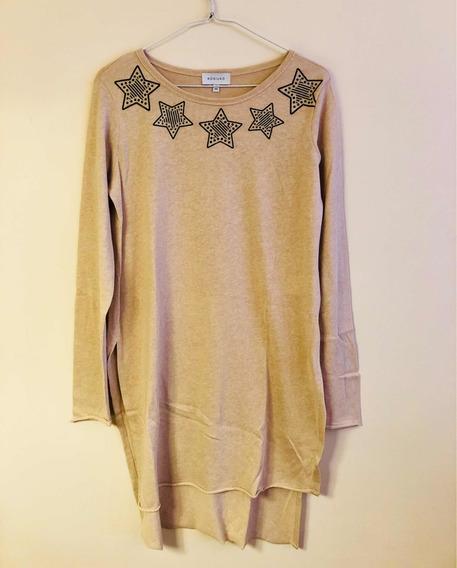 Remera Mujer Kosiuko Larga Estrellas Tipo Sweater