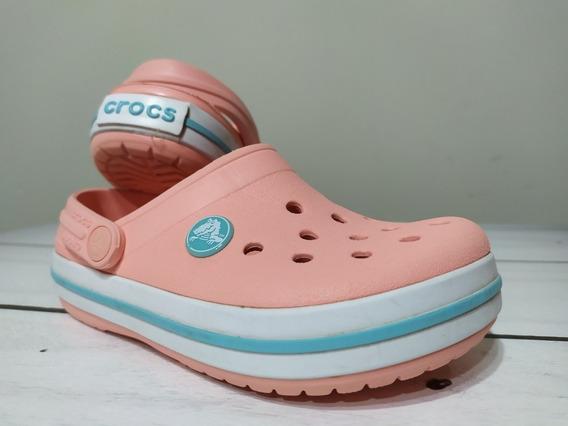 Crocs Band Kids Niños Color Melon Ice Coral Talle C10