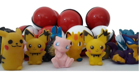 Pokebola 5,5 Cm- Bola Com Pokemon Sortido - Kit 30 Unidades