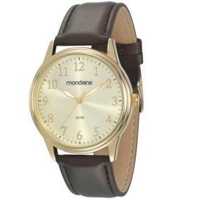 Relógio Masculino Mondaine Pulseira De Couro 83284gpmvdh2