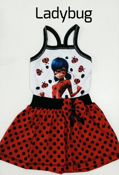 Vestidinho Ladybug Infantil Personagem (veste Até 6 Anos)