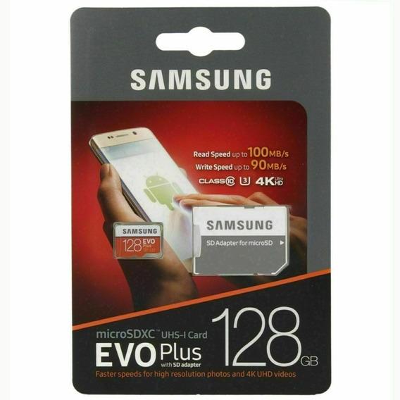 Cartao Samsung Microsd Evo Plus 128gb 100mb/s 4k U3 Lacrado