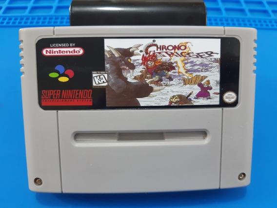Fitas De Super Nintendo Chrono Trigger Em Português Salvando