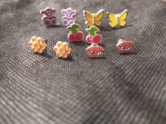 Lote De 5 Pares De Aretes - Nuevos - Varios Colores
