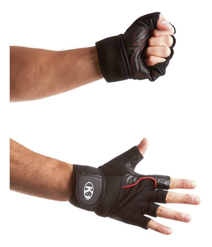 Guantes Gym Pesas Gimnasio Crossfit Ice Border K6 Fitness