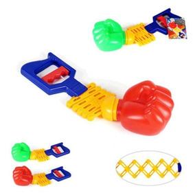 Boxe Mao Braço Bionico Infantil Brinquedo Vai Vem Colorido