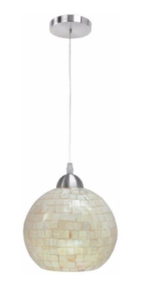 Pendente Lustre Cúpula Globo Vitralle Madrepérola G-light