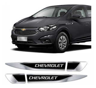 Adesivo Emblema Chevrolet Onix E Prisma Resinado Cromado Aplique Lateral Par Res03 Fgc