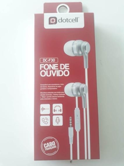 Fone De Ouvido Com Microfone P3 Universal Dotcell Dc-f30