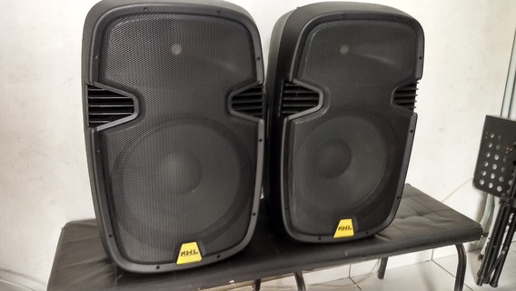 Caixa Acustica Ativa + Passiva Nhl Pro Sound 700w 15p + Bags