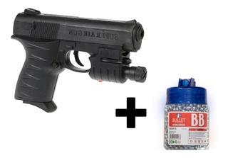 Pistola Lanza Balines+laser+led+1000 Balines Estuc Cargador