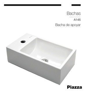 Bacha Piazza A146 Apoyo Loza Porcelana Sanitaria Baño