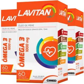 Ômega 3 Lavitan 3 Unidades De 60 Cápsulas Cimed