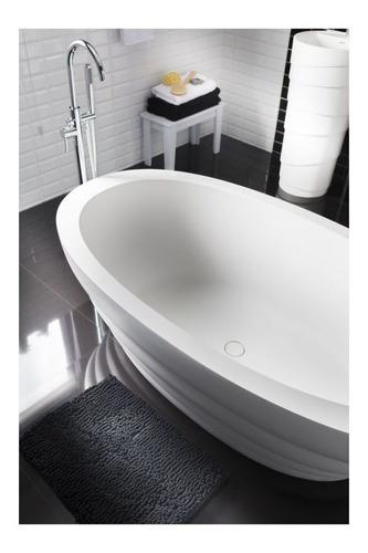 Imagen 1 de 3 de Tapete Para Baño Shaggy 43x61 Cm Elite Negro