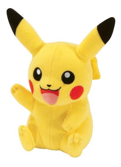 Pelúcia Pokémon Pikachu Acenando - Tamanho 20cm - Tomy